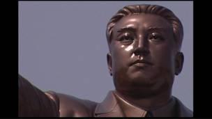 Bức tượng của Kim Nhật Thành tại Bình Nhưỡng, Bắc Hàn.