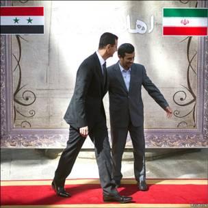 بشار اسد و محمود احمدی نژاد