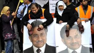 تظاهرات علیه مشرف
