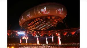नेहरू स्टेडियम में रंगारंग समारोह