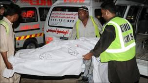 کراچی میں حملے کے متاثرین