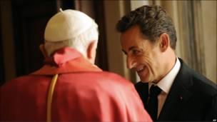 Николя Саркози и Папа Римский