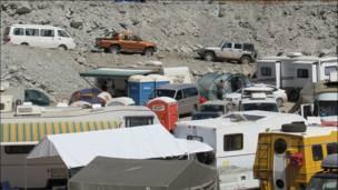 Campamentos de casas rodantes. (Foto de Rodrigo Bustamante)