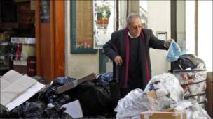 أكياس القمامة تكدست بفعل الإضراب في فرنسا