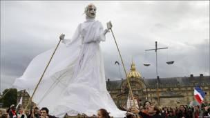 Manifestación en Francia