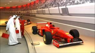 Pista con coche Fórmula 1