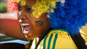 مشجعة جنوب أفريقية