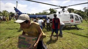 Гуманитарная помощь пострадавшим от цунами