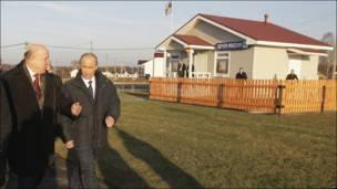 Путин в деревне Верхняя Верея
