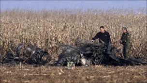 Обломки МиГ-21 в Румынии