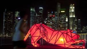 Фестиваль световых скульптур в Сингапуре