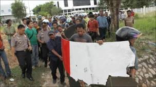 Обломок, найденный на индонезийском острове Батам