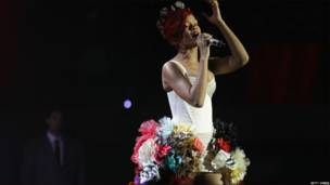 Actuación de Rihanna