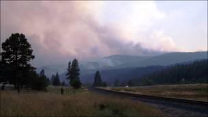Incendio forestal. Foto: Peter Kolb