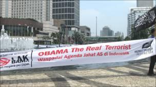 La visita de Obama también generó una serie de protestas