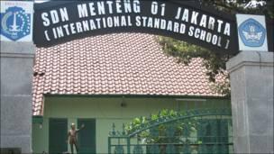 Entrada de la escuela SDN Menteng