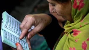 زنی مسلمان در کشمیر
