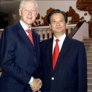 Ông Bill Clinton và Thủ tướng Nguyễn Tấn Dũng