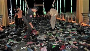Полицейские на месте трагедии