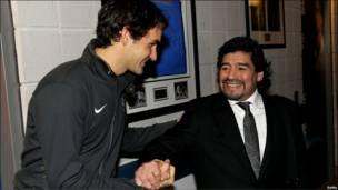 Федерер и Марадона