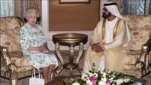 Шейх Мохаммед и Королева Елизавета II