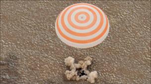 В Казахстане приземлилась капсула с космонавтами МКС