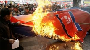 В Южной Корее провели демонстрации против обстрелов со стороны КНДР