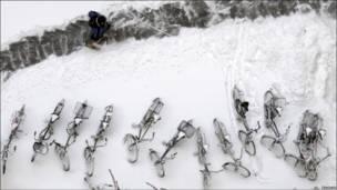 यूरोप में बर्फ़बारी