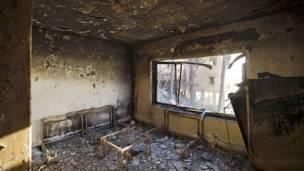 """ووصف نتنياهو وصف الحرائق بأنها """" كارثة لا مثيل لها"""""""