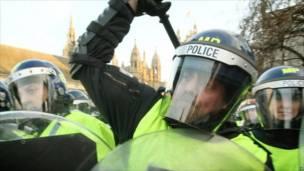 Protesta  estudiantil en Londres