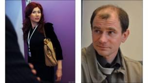 Анна Чэпман и Игорь Сутягин
