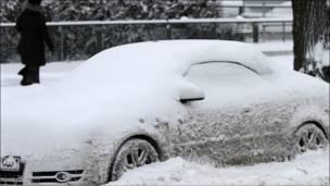 الثلوج تكسو أوروبا