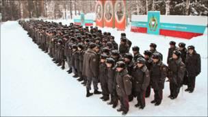 Ученики лицея милиции под Пермью