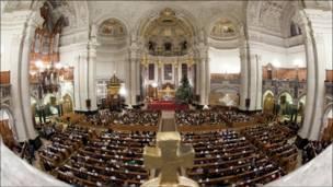قداس عيد الميلاد في كاتدرائية برلين
