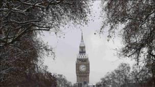 الثلوج عيّدت لندن باكراً