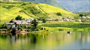 Aldea en Corea del Norte