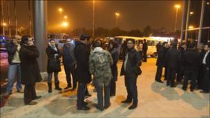 محل سقوط هواپیمای ایران ایر در نزدیکی شهر ارومیه در شمال غربی ایران