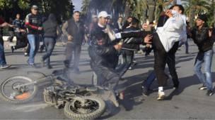مصادمات في تونس