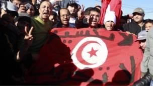 مظاهرة سلمية في ظاهرة بالعاصمة التونسية