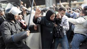 متظاهرة مصرية