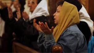 صلاة في كنيسة بمصر