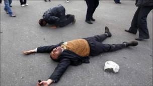 Протест против Мубарака