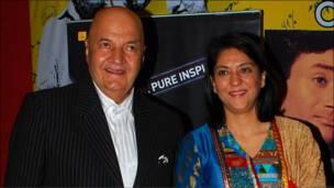 प्रेम चोपड़ा और प्रिया दत्त.