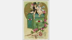 Postal de John Winsch, impresa en Alemania y distribuida en Estados Unidos alrededor de 1910. Cortesía: Nancy Rosin.