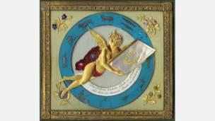 Representación del zodíaco al estilo Biedermeier de Johannes Endletzberger. Cortesía: Nancy Rosin.