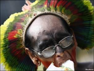 رهبر یکی از قبایل بومی برزیل