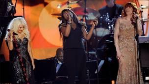 Actuación en homenaje a Aretha Franklin