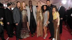 Will Smith, su esposa y su hija; Nicole Kidman y su esposo y Heidi Klum y Seal