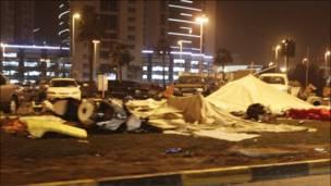 Lều trại bị phá hủy