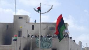 متظاهرون في مدينة بنغازي